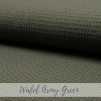 wafel stof army green