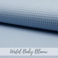 wafel stof baby blauw