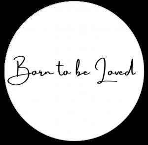 Muurcirkel Born to be Loved zwart
