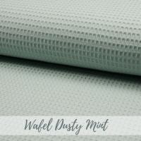 wafel stof dusty mint