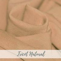 tricot effen natural creme