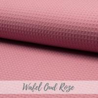 Wafel stof oud roze