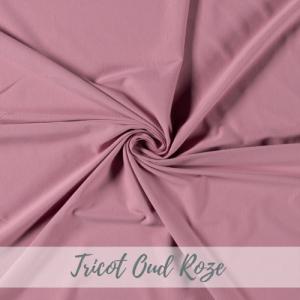 tricot effen oud roze