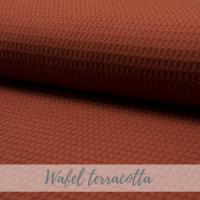 wafel stof terracotta