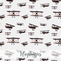 vliegtuigjes jongens tricot stof