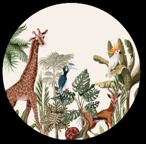 Muurcirkel Jungle Giraf
