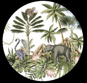 Muurcirkel Jungle Olifant