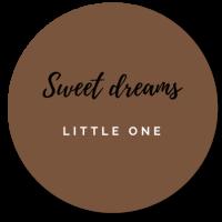 muurcirkel sweet dreams bruin