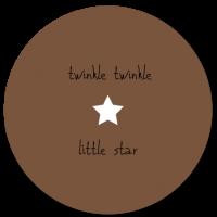 Muurcirkel Twinkle Twinkle little star Bruin