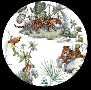 Muurcirkel Jungle Luipaard