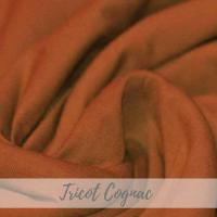 Effen cognac tricot