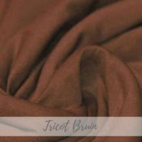 Effen bruin tricot