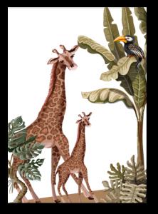 Wenskaart Jungle Giraf
