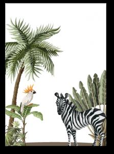 Wenskaart muurcirkel Zebra
