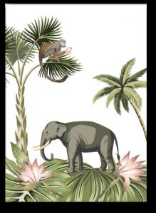 Wenskaart Jungle olifant