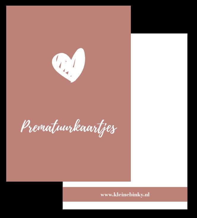 prematuurkaartjes bewaarbundel oud roze