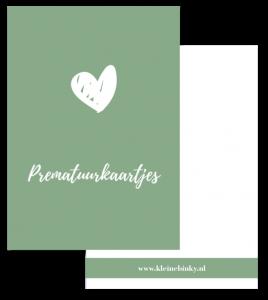 prematuurkaartjes bewaarbundel oud groen