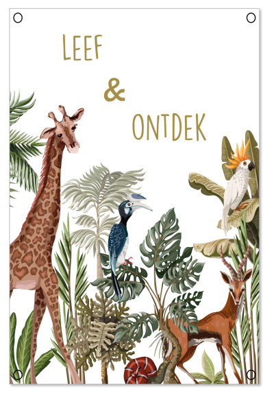 Tuinposter jungle giraf