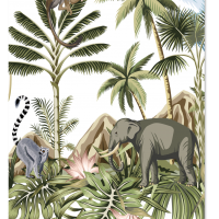 Tuinposter jungle olifant