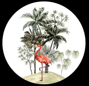 Muurcirkel safari Flamingo