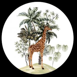Muurcirkel safari giraf